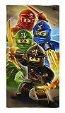 Lego Ninjago Badetuch 'Motiv Ready' 70 cm x 140 cm Neu & Ovp - Strandlaken - Strandtuch - Handtuch - 100% Baumwolle - Cole - Jay - Kai - Lloyd - Zane - Nya - Misako - Sensai Wu