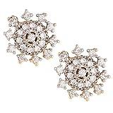 Fashionaya Diamond Sun Stud Earrings For...