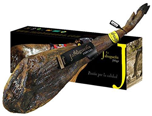Jambon ibérique Pata Negra Premium de Jabugo 36 mois d'affinage 6,5-7,5 Kg - La Jabuguena - Nourri aux Glands (Bellota)