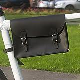 Fahrrad Rahmen Tasche handgefertigt Natural Leder Tan 21,8x 16,5x 5,1cm