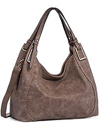 IN ANGEL Handtasche Damen Henkeltasche Umhängetasche Crossbody Hobo Tasche Schultertasche Damen PU Leder Handtasche für Frauen (L39cm * W16cm * H29cm)