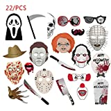 Photo Props Halloween Photo Props Fun Party Decoration 22pcs - Yves25Tate