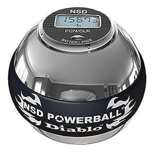 NSD Powerball 350Hz Diablo Pro Metal Gyro - Forearm Workout, Strength Training, Hand Exercise ball & Hand Strengthener