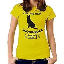 Tshirt Tshirt Il Mio Vero Amore scodinzola - Pastore Belga Love - Dog - Humor - Tshirt Simpatiche e Divertenti