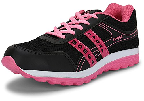 Xpose Women's Cutielite Sports Running Shoes (7 W UK/Ind., Baby Pink- Black)  available at amazon for Rs.348