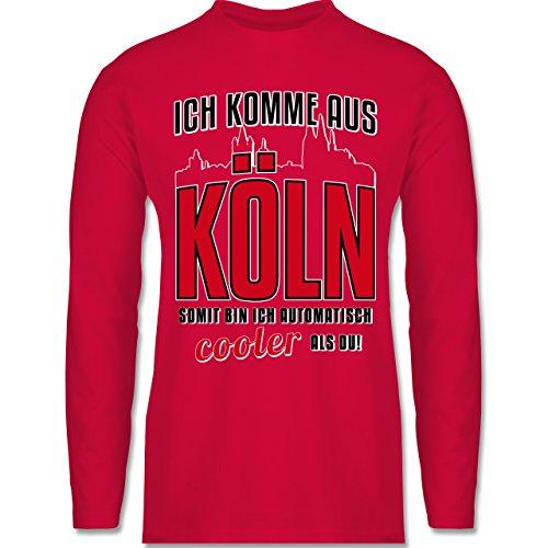 Shirtracer Städte - Ich Komme Aus Köln - Herren Langarmshirt Rot