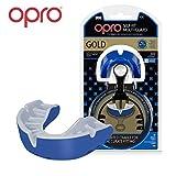 Opro Mundschutz Gold selbst Passform, Gen. 3self-fit mundschutze der Welt für Rugby, Hockey, MMA, Boxen, Lacrosse, American Football und Kontaktsportarten. Entworfen und Hergestellt in Großbritannien (Blau)