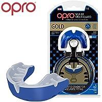 Opro Mundschutz Gold selbst Passform, self-fit mundschutze der Welt für Rugby, Hockey, MMA, Boxen, Lacrosse, American Football und Kontaktsportarten. Entworfen und Hergestellt in Großbritannien