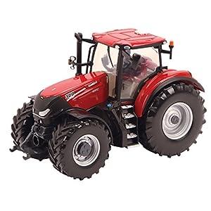 Tomy Farm - Tractor de Juguete Case Optum 300 CVX New, Escala 1:32, Color Rojo (30693138)