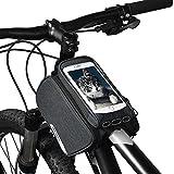 ROSWHEEL Bolsa de Bicicleta Impermeable Transparente Pantalla táctil de PVC Bolsa de Bici Capacidad hasta 1.5L Portátil para Móvil Telefono