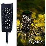 XERGY Solar Garden Pathway Lights, Outdoor Landscape Path Lights - Wireless, Waterproof Night Decoration Kit (6 Pack)