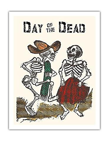 Mexique - La célébration_ de Jour des morts - Affiche ancienne vintage tourisme voyage du monde mondial Poster by Jose Guadalupe Posada c.1900 - Beaux-Arts Imprime Fine Art Print - 51cm x