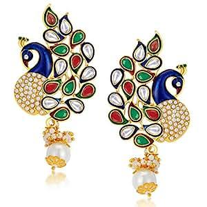 Sukkhi Gold Plated Australian Diamond Dangle & Drop Earring for Women