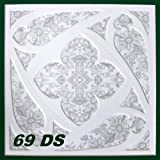 10 m2 Deckenplatten Styroporplatten Stuck farbige Platten 50x50cm, Nr.69 DS