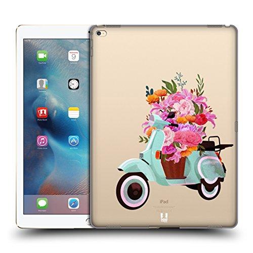 Pro 2015 Scooter (Head Case Designs Scooter Räder Und Blumig Ruckseite Hülle für iPad Pro 12.9 (2015))