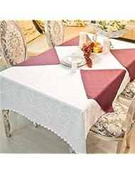 LILSN- Los manteles manteles mantel restaurante del hotel Continental redondas manteles de tela tela de mesa mantel redondo falda de cena casero ( Tamaño : 160*160cm )
