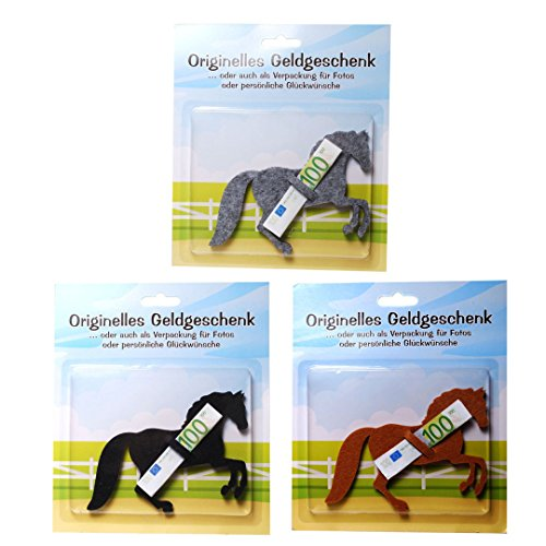 Unbekannt 1 x origenlles Geldgeschenk aus Filz Motiv Pferd -