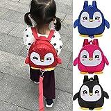 YGQersh Lovely Cartoon Penguin Enfants Enfants Anti-Perdu Sac À Dos Sac À Langer Maternelle - Violet