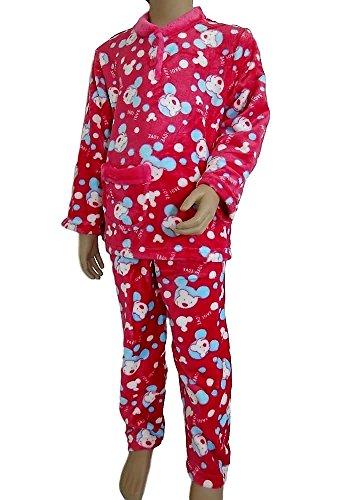 Pyjama pilou enfant fille (Ref:Love LoveⒸ) (12 ans, Fuchsia)