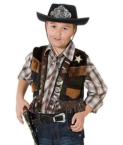 Sheriffweste Sheriff Weste Kostüm Cowboy Sheriffkostüm Cowboykostüm Gr. 104, 116, 128, 140, 152, 164, Größe:128