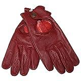 German Wear Driving Autofahrer-Handschuhe Lederhandschuhe, Größe:10=XL, Farbe:Weinrot
