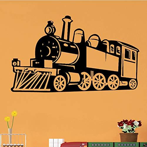 ljradj Dampf Zug wandtattoo wandaufkleber DIY Home decalation zubehör Vinyl wasserdicht wandaufkleber fürwohnzimmerwandtattool 43 cm x 72 cm