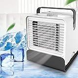 3 en 1 Mini Climatiseur Humidificateur Purificateur - Mini Climatiseur Portable Mini Ventilateur USB - Rafraichisseur d'air pour Maison /Bureau/Camping - 7 sortes Filter Paper - Purifier l'air Blanc