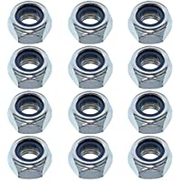 Easyboost 12 Tuercas Autoblocantes M8 Acero Zincado DIN-985 ISO-10511 UNI-7474 Elementos de Fijación Alta Calidad Bricolaje Modelismo Mecánica
