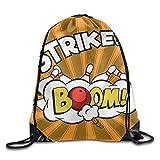 bag new Tasche New Bowling Kugeln und Pins Design2Unisex Outdoor Turnbeutel Tasche Sport Kordelzug Rucksack Tasche