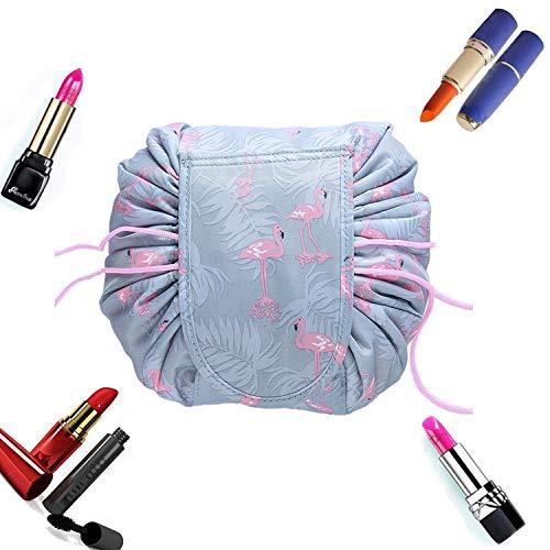 Bolso Maquillaje, Bolsa de Cosméticos para Señoras Perezosas Bolsa de Maquillaje Bolsa de Organizador Almacena miento de Maquillaje del Bolso para Viaje Diario (F)