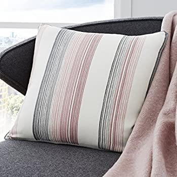 Blush Grey Modern Striped Cushion Cover 17 X 43 Cm Fits 18 Inserts
