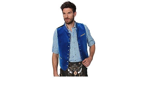 Stockerpoint Traditional Costume Velvet Vest Gilet Calzado Embroidered Royal