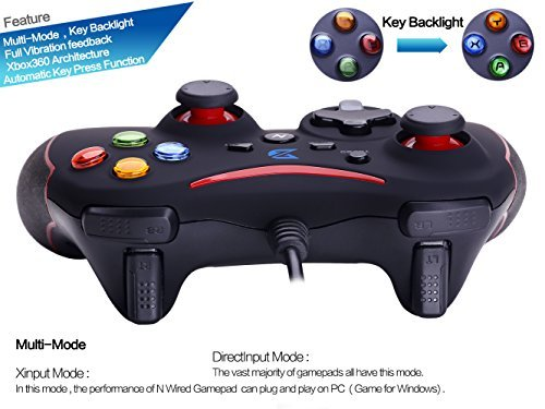 ZD-N Vibration-Feedback USB Wired Gamepad Controller Joystick Support PC Windows XP 7 8 8.1 10 PS3 Android Xbox 360 architecture