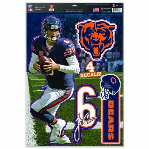 Wincraft NFL Chicago Bears Jay Cutler Multi Dekorbogen, 27,9x 43,2cm Team Farbe
