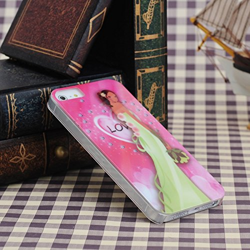 iPhone Case Cover Schönheit Hochzeit Braut Muster Kunststoff Hard Case für das iPhone 5S SE 5 ( Color : 2 ) 1