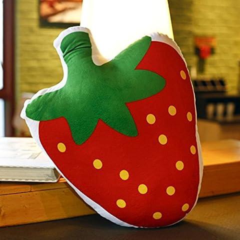 ERRU- Almohada de la historieta de la almohadilla de la historieta de la almohadilla de la fresa de la fruta de la simulación de la personalidad creativa de Ragdoll Los regalos de cumpleaños desmontables de la almuerzo de la oficina (los 45 * 30cm)