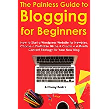The Painless Guide to Blogging for Beginners (2016): How to Start a Wordpress Website for Newbies, Choose a Profitable Niche & Create a 4 Month Content Strategy for Your New Blog (English Edition)