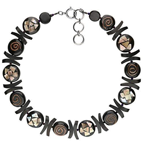 langani Halskette Roxane Damen-Kette schwarzen Perle Handmade Since 1952 7