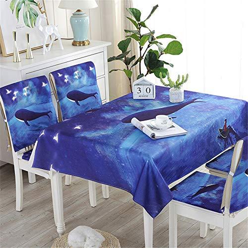 qwdf Neue wasserdichte Leinen Tischdecke Baumwolle und Leinen kleinen frischen Stil ins nordischen Stoff Mehrzweckbezug Handtuch europäischen Couchtisch Tischdecke
