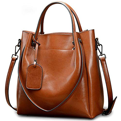 WWAVE Frauen Handtasche große Tasche Retro Handtaschen lässig Fashion Female Umhängetasche Messengerbag (Braun-handtaschen Denke,)