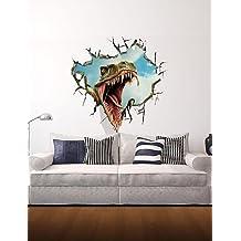 MUCASTLE Etiquetas engomadas de la pared de la pared 3d, dinosaurio decoración pegatinas de vinilo de pared Kitchen