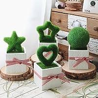 Zakka stile rurale fresco fiore artificiale Miniascape ceramica bonsai Pot decorazione domestica regalo Desktop Decor