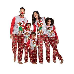 ZYJFP Pijamas Dos Piezas Familiares De Navidad, Conjuntos Navideños De Algodón Para Mujeres Hombres Niño Bebé, Ropa Para… 8