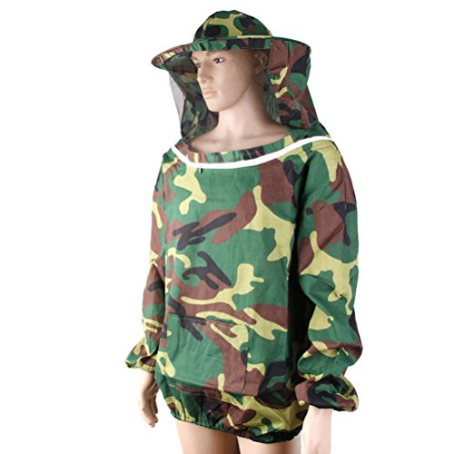 Camouflage Beekeeper Suit OUNONA Bee Protective Clothing with Veil