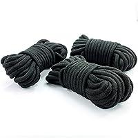 marielove Premium Bondageseil 3 x 10m, Bondage Fessel-Set für BDSM Fesselspiele und Sadomaso, Schwarz