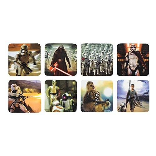Star Wars The Force weckt VII Untersetzer, Karte, lentikulär, Mehrfarbig, 24,6x 10.5x 2.1cm