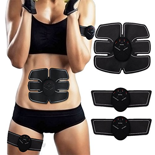 Abs Trainer SEEYC EMS Abdominal Muscle Stimulator Muscle Toning Belts Home Workout Fitness Device for Men & Women