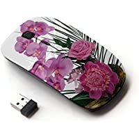 ARTECH [ Mouse Senza Fili Ottico 2.4G ] [ Rose Peony Orchids Herbs Planters ]