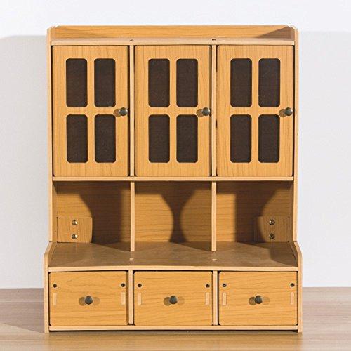 Staubdichte schmuckkästchen, Kreativ Desktop Kosmetik Empfangenden box, Einfache Multi-layer-schublade Finishing kabinett-D 35*22*40.5cm(14x9x16inch) (Multi D-boxen)