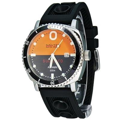Nautec No Limit Sub Zero - Reloj analógico de caballero automático con correa de goma negra - sumergible a 200 metros de Nautec